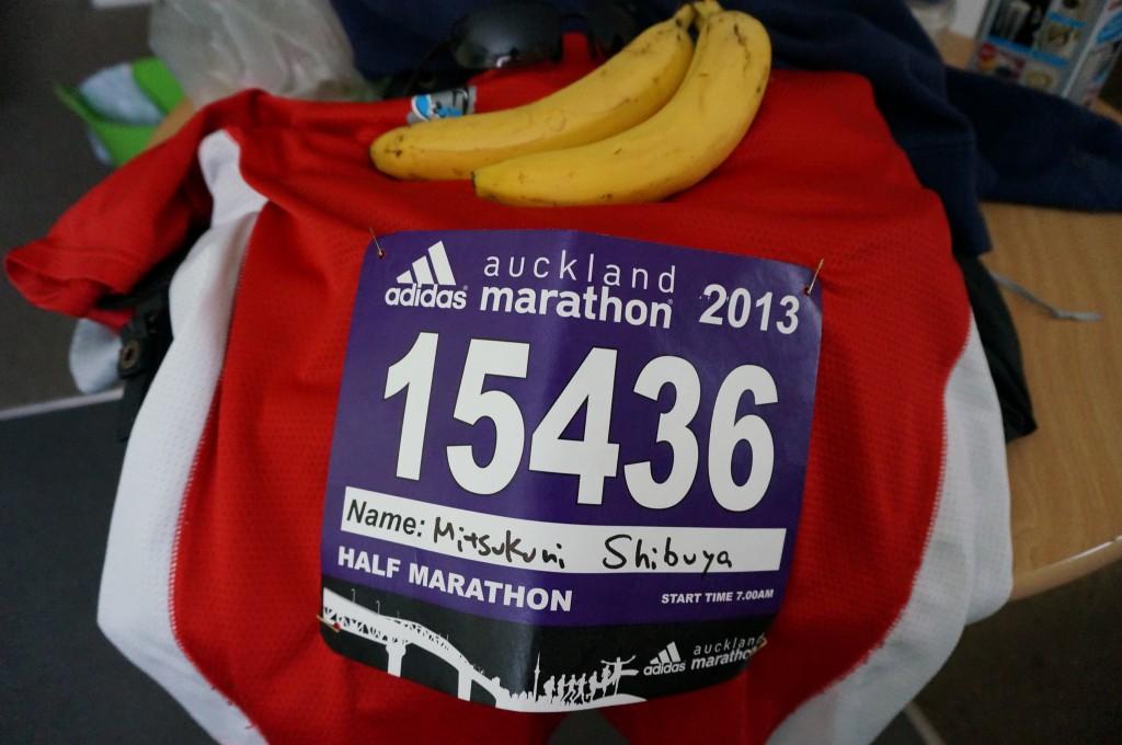 昨年オークランドマラソン(ハーフ)の時のゼッケン