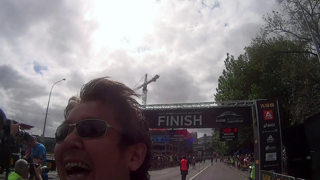 オークランドマラソン2014ゴール
